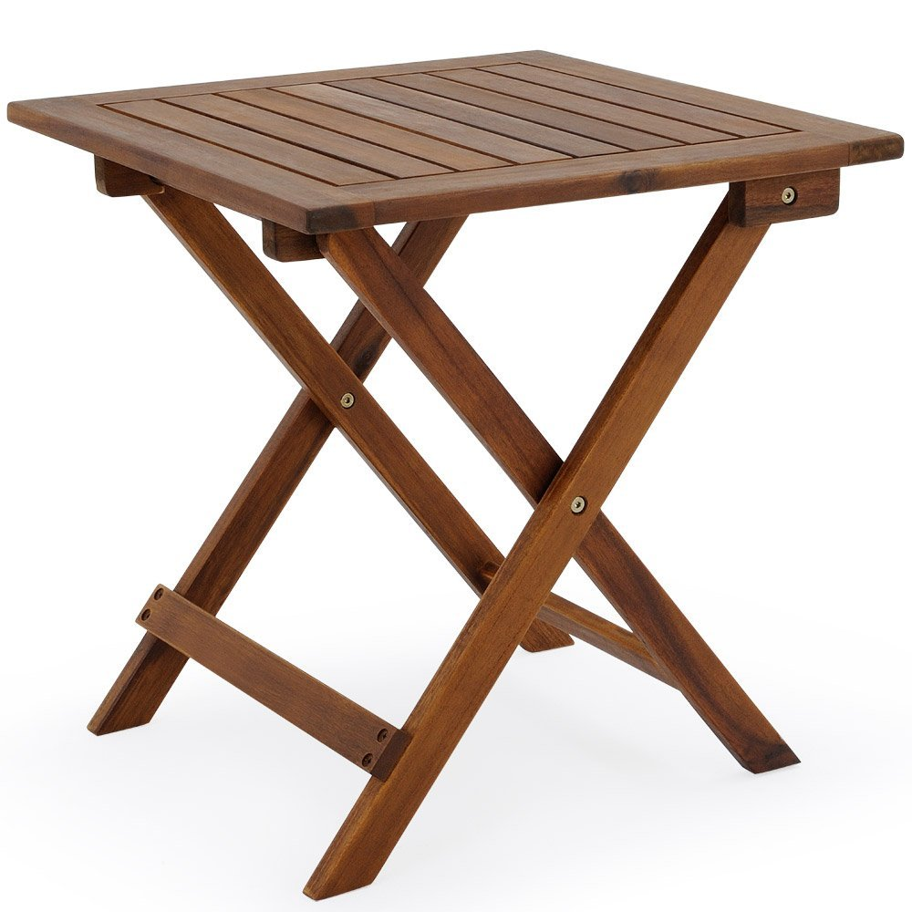 Low snack table tropical acacia wood small bistro coffee side table furniture