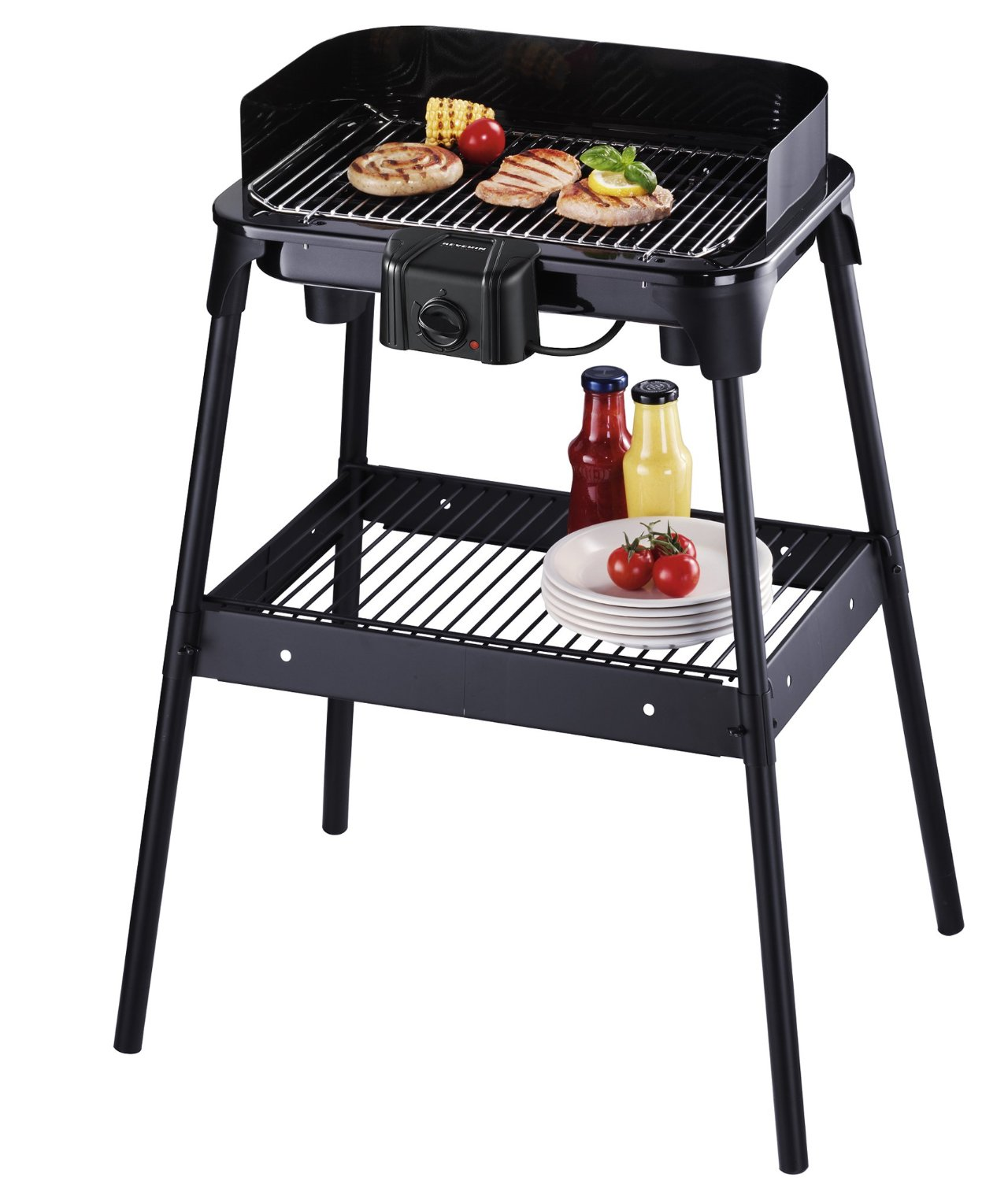Severin 2500 W Electric Stand Barbecue - Black
