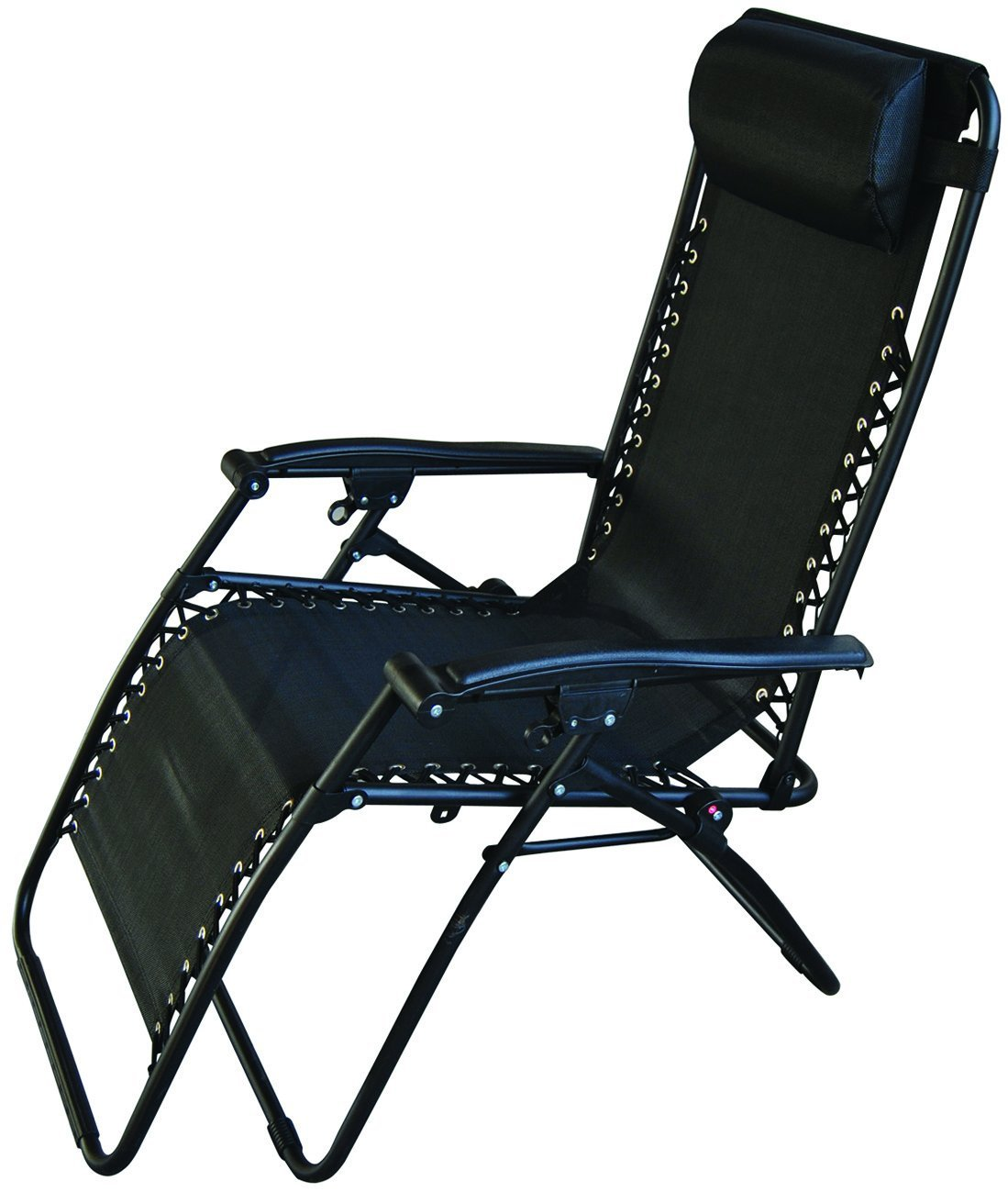Redwood Leisure Textilene Reclining Chair - Black
