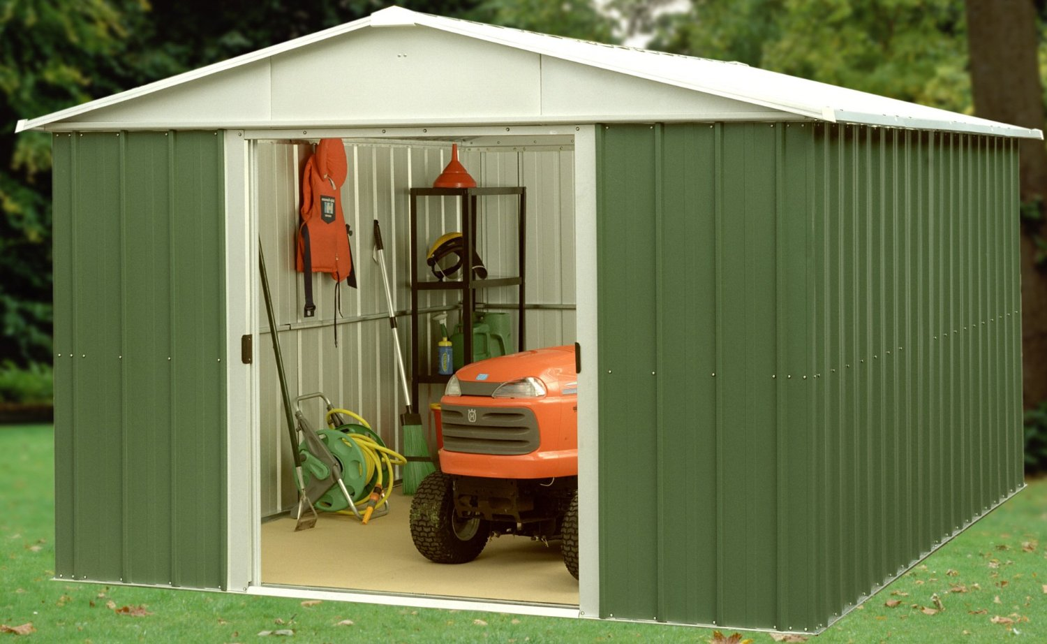 Trigano Deluxe Metal Apex Shed 10 x 8