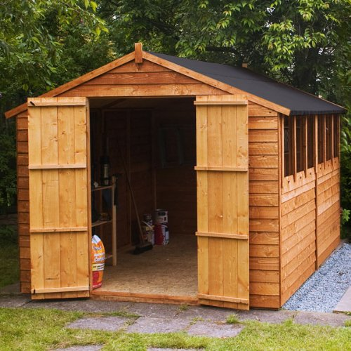 Overlap Apex Shed with Double Door