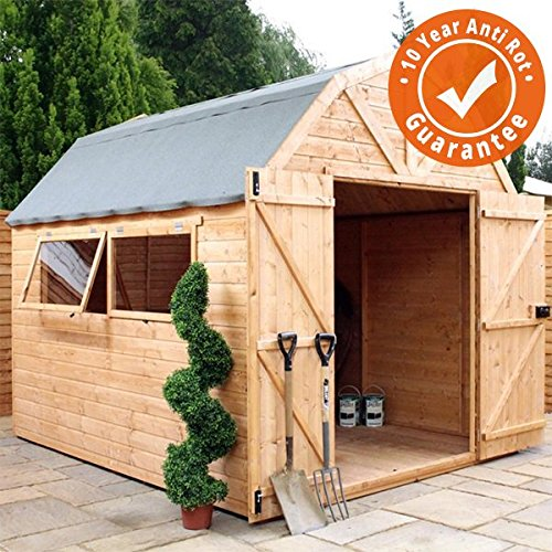 Premier Shiplap 10x8 Wooden Garden Shed Dutch Barn