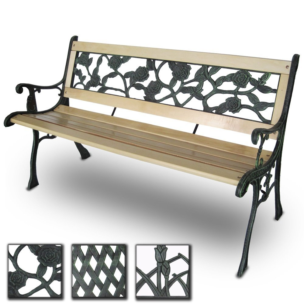 Miadomodo® GRTB01-3 3 Seater Wooden Outdoor Garden Bench